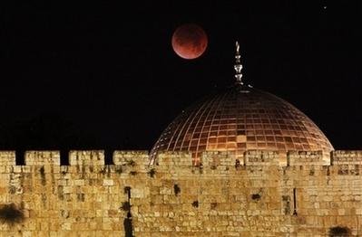 APTOPIX Mideast Israel Palestinians Lunar Eclipse